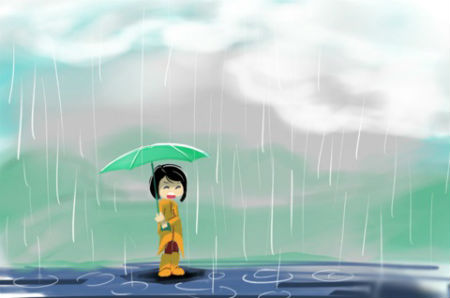 Tả cảnh cơn mưa em đã chứng kiến